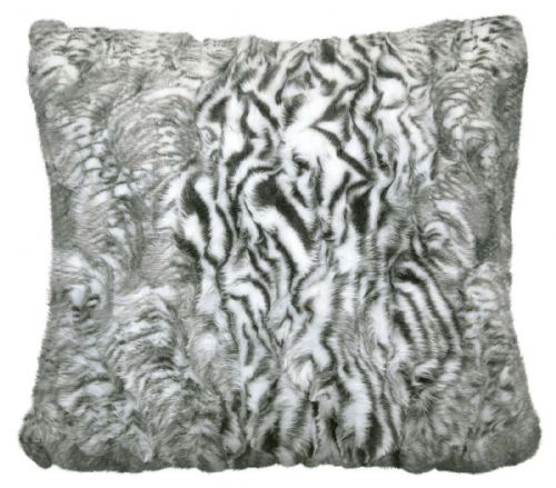 Luxury Faux Fur Sofa Scatter Cushion Super Soft Arctic Cosy Cuddly Feel, 56cm x 56cm, Siberia Grey